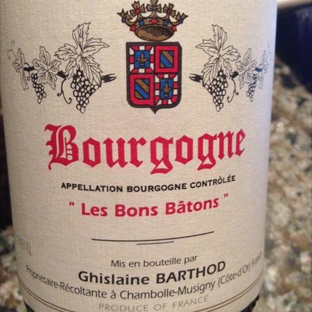 Domaine Ghislaine Barthod Les Bons Bâtons Bourgogne Pinot Noir 2014