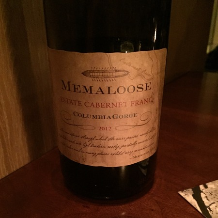 Memaloose Estate Cabernet Franc 2012