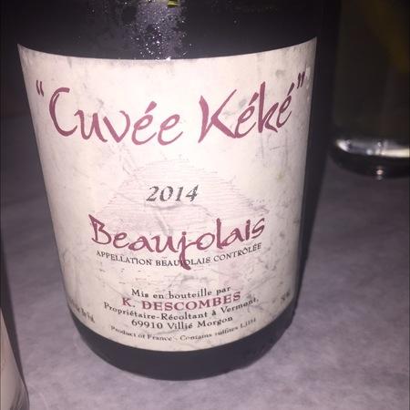 K. Descombes Cuvée Kéké Beaujolais Gamay 2014