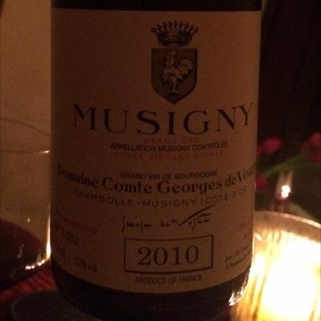 Domaine Comte Georges de Vogüé Cuvée Vieilles Vignes Musigny Grand Cru Pinot Noir 2010