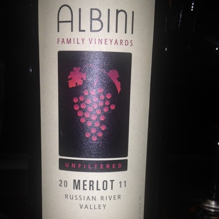 Albini Family Vineyards Unfiltered Russian River Valley Merlot 2011