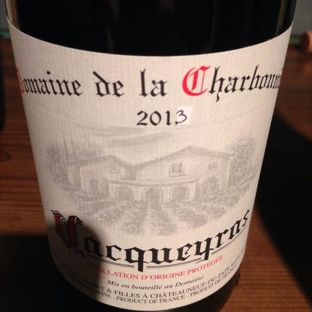 Domaine de la Charbonnière Vacqueyras Red Rhône Blend 2013