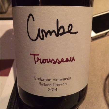 Stolpman Vineyards Combe Ballard Canyon Trousseau 2016