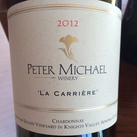 Peter Michael Winery 'La Carrière' Knights Valley Chardonnay 2012