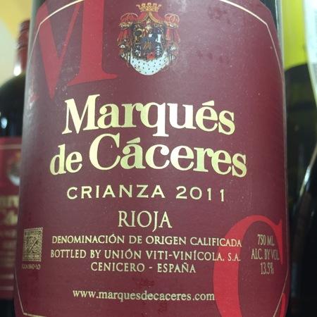 Marqués de Cáceres Crianza Rioja Tempranillo Blend 2011