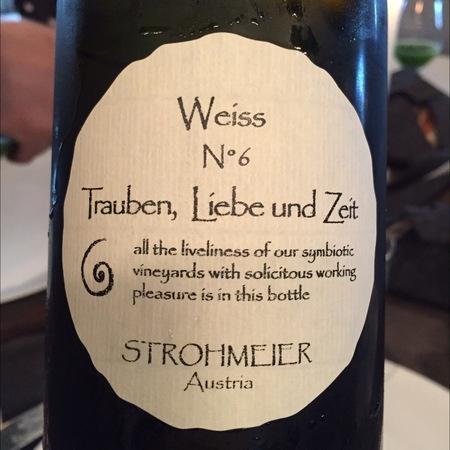 Franz Strohmeier Weisss 6 aus Trauben, Liebe und Zeit