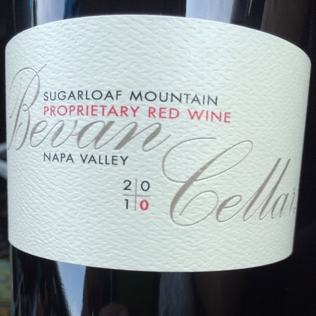 Bevan Cellars Sugarloaf Mountain Proprietary Red Blend 2015