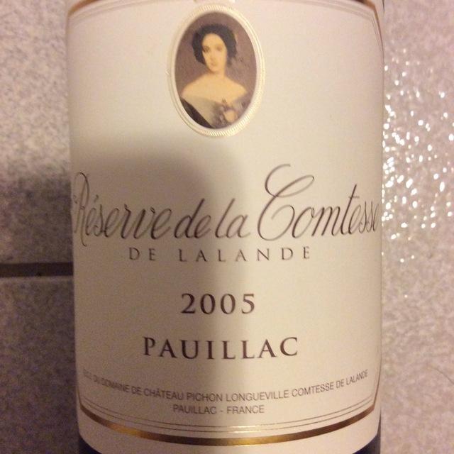 Réserve de la Comtesse Pauillac Red Bordeaux Blend 2005