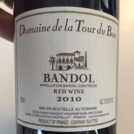 Domaine de la Tour du Bon Bandol Mourvedre Blend 2013
