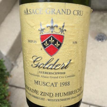 Domaine Zind Humbrecht Hengst Alsace Grand Cru AOC Gewürztraminer 1988
