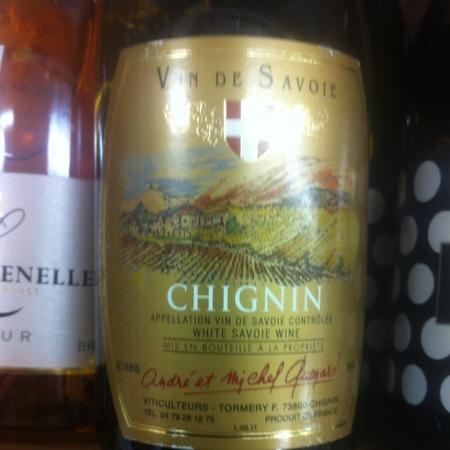 André et Michel Quenard Vin de Savoie Chignin Jacquère 2016