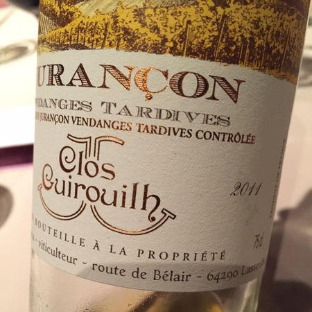 Clos Guirouilh Vendanges Tardives Jurançon White Blend 2011