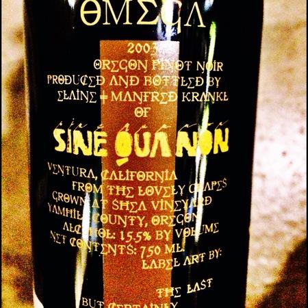 Sine Qua Non Omega Pinot Noir 2003