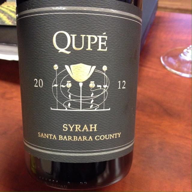 Santa Barbara County Syrah 2012