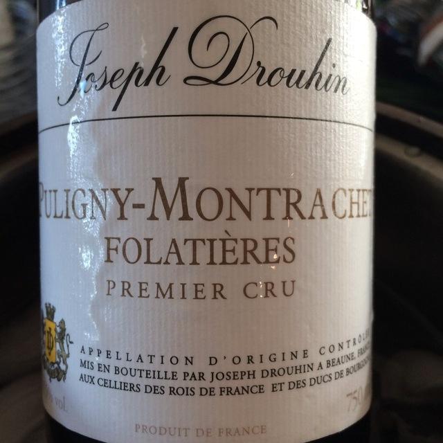 Les Folatières Puligny-Montrachet 1er Cru Chardonnay 2008