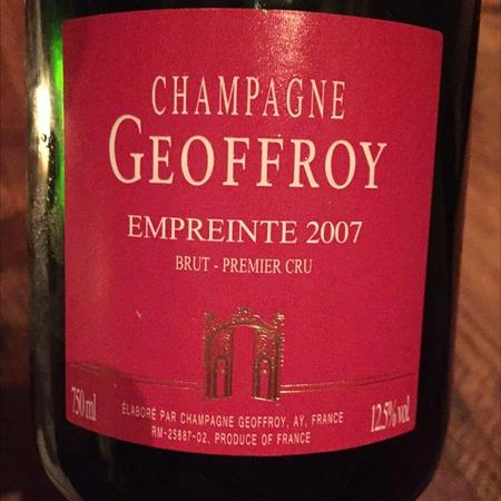 René Geoffroy Empreinte Brut 1er Cru Champagne Blend 2009
