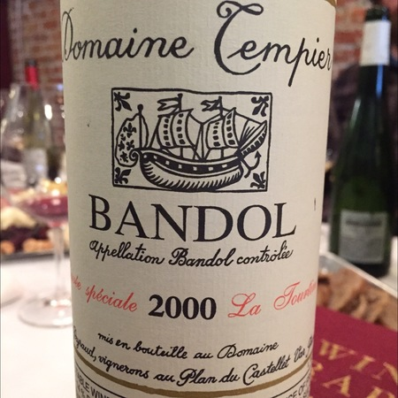 Domaine Tempier Cuvée La Tourtine Bandol Mourvedre Blend 2015