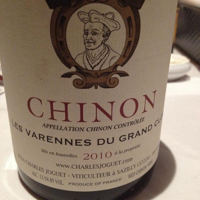 Les Varennes du Grand Clos Chinon Cabernet Franc 2010
