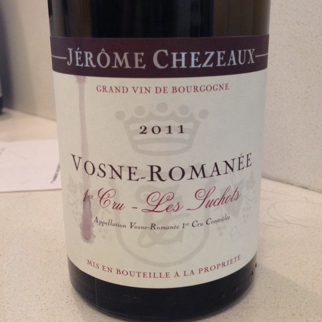 Les Suchots Vosne-Romanée 1er Cru Pinot Noir 2011