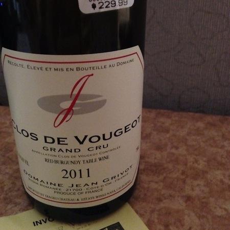 Domaine Jean Grivot Clos de Vougeot Grand Cru Pinot Noir 2011