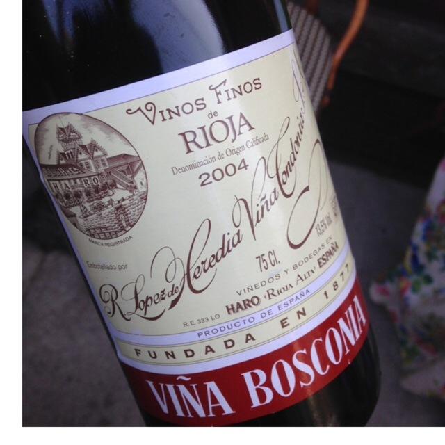 Viña Bosconia Reserva Rioja Tempranillo Blend 2004