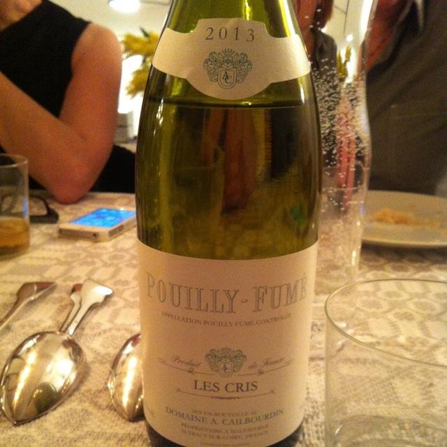 Les Cris Pouilly-Fumé Sauvignon Blanc 2013