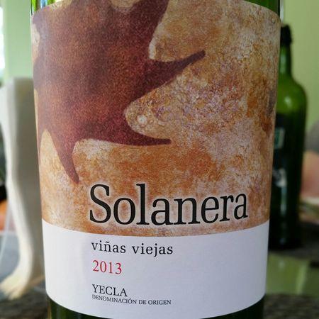 Familia Castaño Solanera Viñas Viejas Yecla Mourvedre Blend 2013
