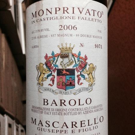 Giuseppe E Figlio Mascarello Monprivato di Castiglione Falletto Barolo Nebbiolo 2006