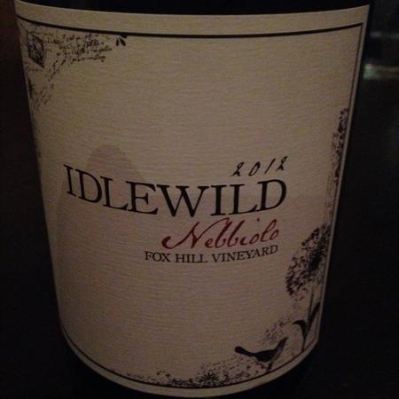 Idlewild  Fox Hill Vineyard Nebbiolo 2012