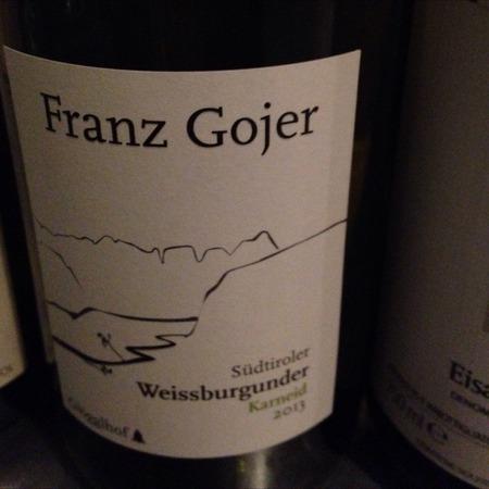 Franz Gojer Glögglhof Südtiroler Karneid Weißburgunder 2016