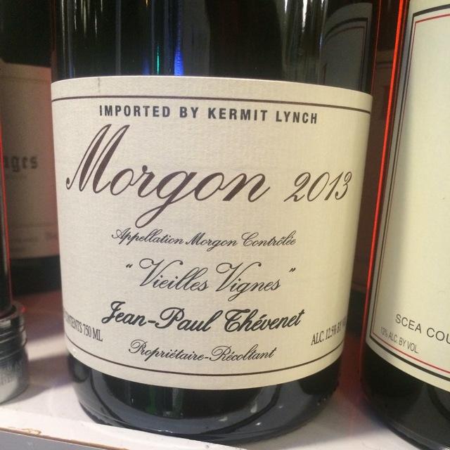 Vieilles Vignes Morgon Gamay 2013