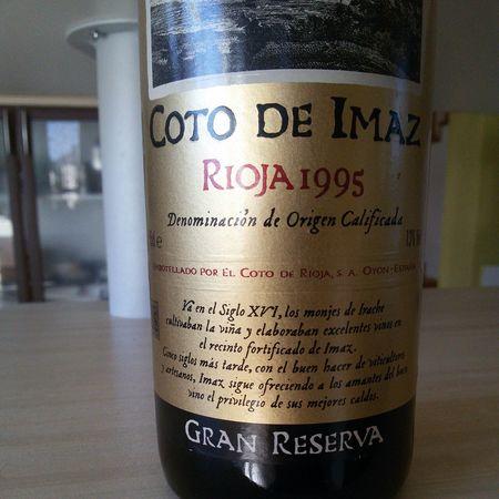 El Coto de Rioja Coto de Imaz Gran Reserva Rioja Tempranillo Garnacha 1995