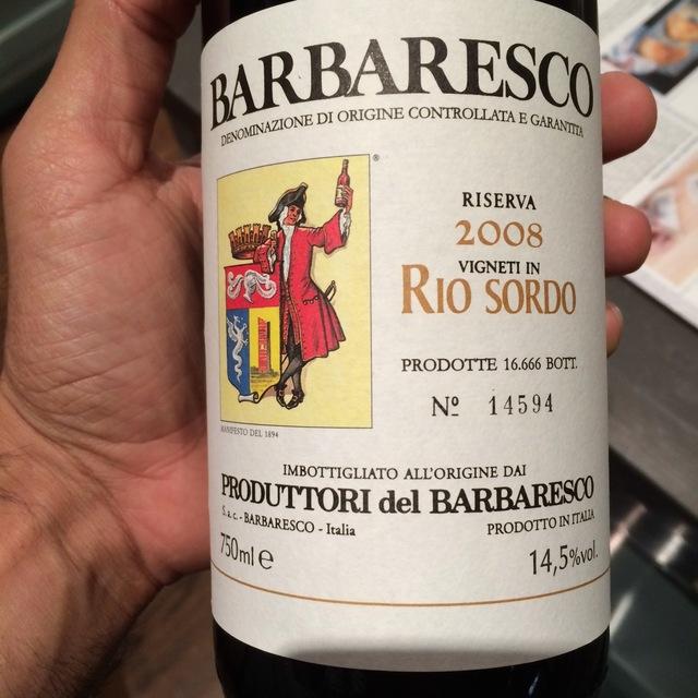 Rio Sordo Riserva Barbaresco Nebbiolo 2008
