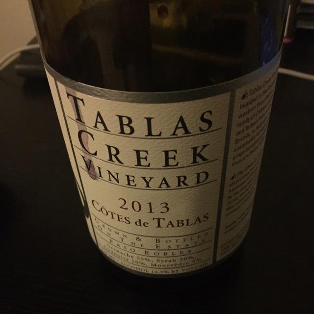 Côtes de Tablas Paso Robles Grenache Blend 2013