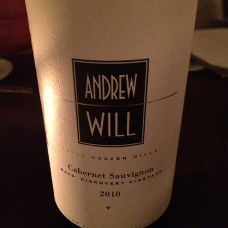 Andrew Will Mays' Discovery Vineyard Cabernet Sauvignon 2010