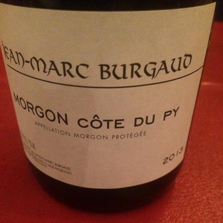Jean-Marc Burgaud Côte du Py Morgon Gamay 2013