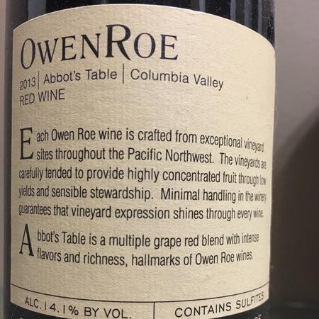 Owen Roe Abbot's Table Columbia Valley Zinfandel Blend 2015