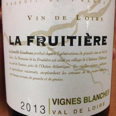 Domaine de la Fruitière Vignes Blanches Val de Loire Chardonnay Blend 2015
