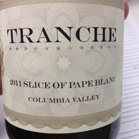 Tranche Cellars Slice of Pape Blanc White Rhone Blend 2014