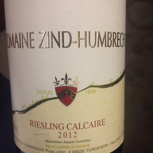Calcaire Alsace Riesling 2013