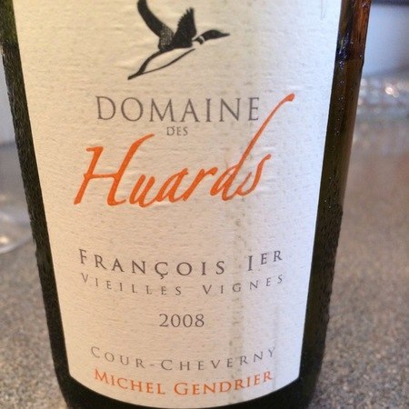 Domaine des Huards (Michel Gendrier) Cuvée François 1er Vieilles Vignes Cour-Cheverny Romorantin 2011