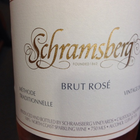 Schramsberg Vineyards Brut Rosé North Coast Sparkling Pinot Noir Chardonnay 2013