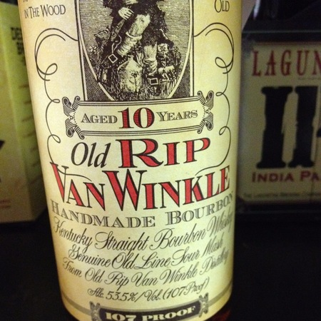Old Rip Van Winkle Distillery Pappy Van Winkle Malt Kentucky Straight Bourbon Whiskey 10 Year 107 Proof NV