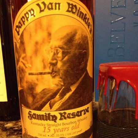 Old Rip Van Winkle Distillery Pappy Van Winkle's 15 Years Old Family Reserve Kentucky Straight Bourbon Whiskey NV