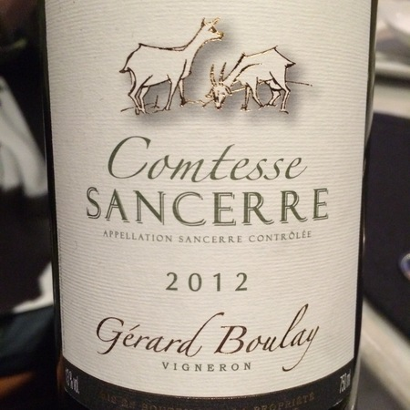 Gérard Boulay Comtesse Sancerre Sauvignon Blanc 2015