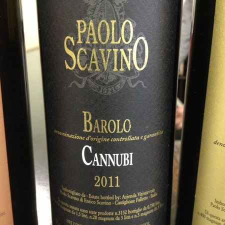 Paolo Scavino Cannubi Barolo Nebbiolo 2012