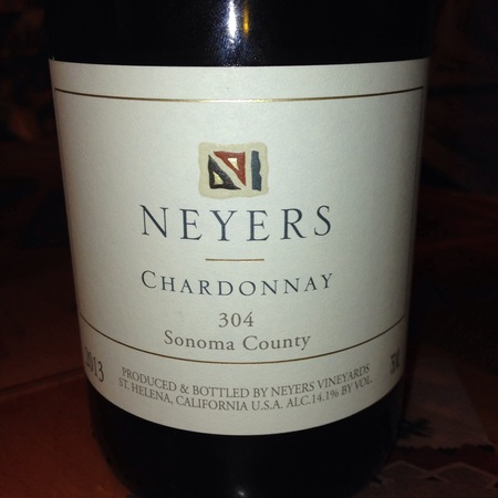 Neyers 304 Sonoma County Chardonnay 2015