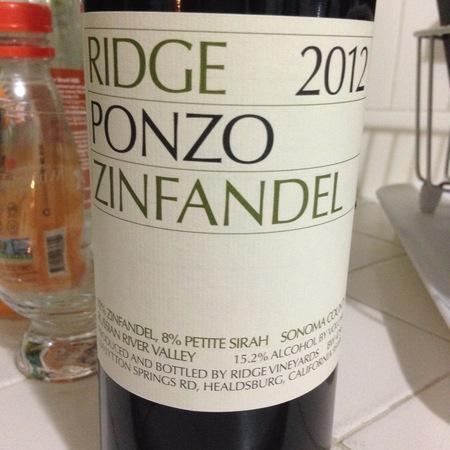 Ridge Vineyards Ponzo Vineyard Zinfandel  2015