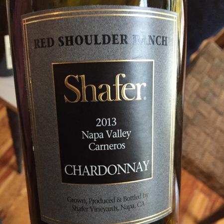 Shafer Red Shoulder Ranch Chardonnay 2013