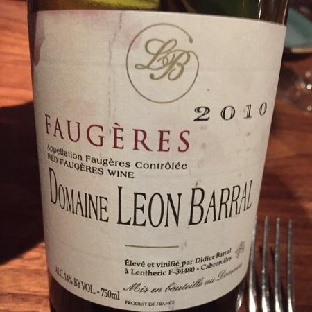 Domaine Léon Barral Faugères Carignan Blend 2014